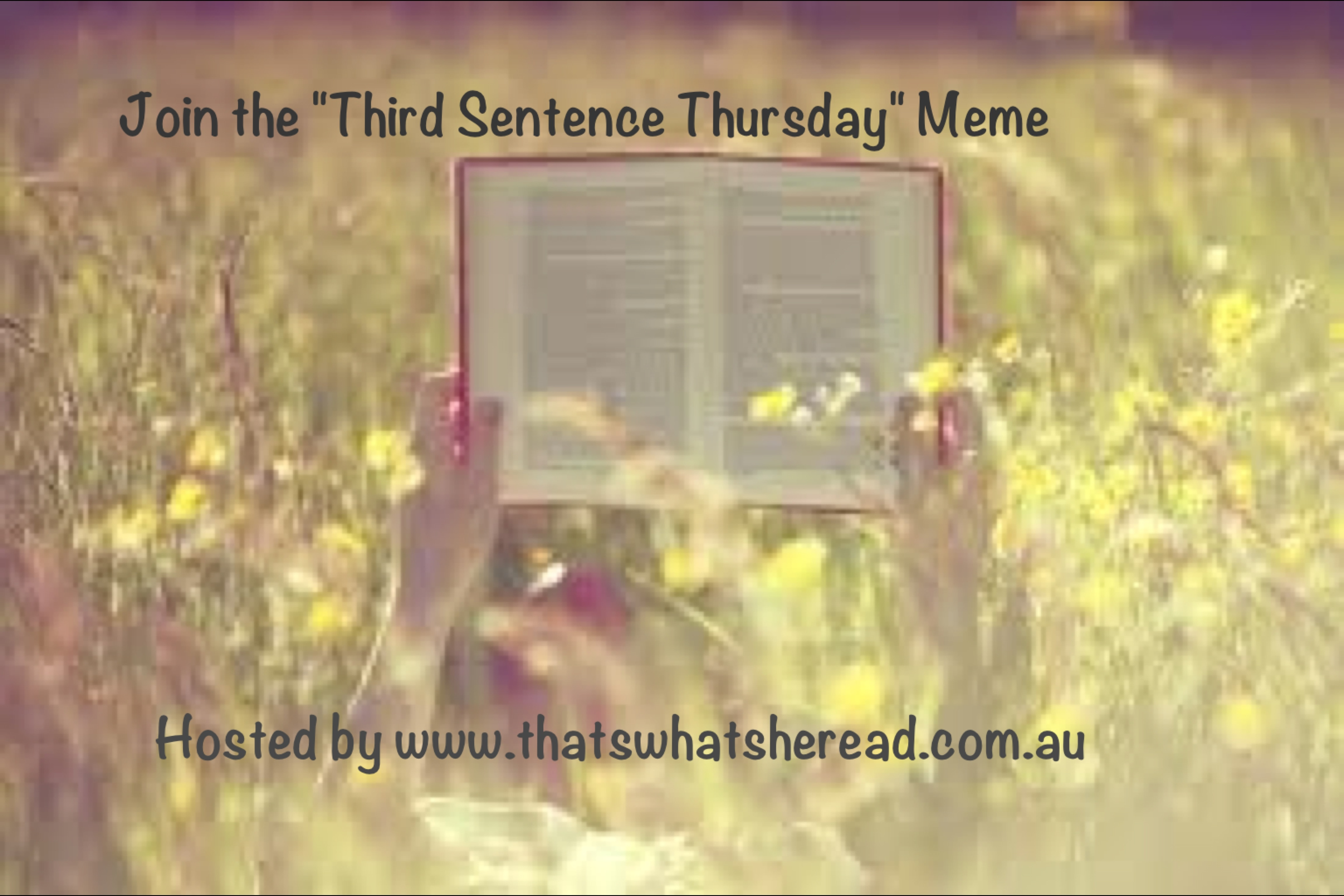 Grab button for Third Sentence Thursday